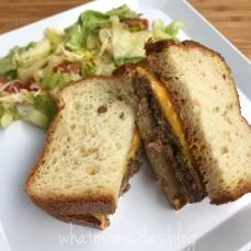 Grass-Fed Beef Cheeseburgers on Honey Oat